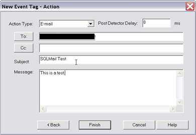 FIGURE 4: CONFIGURE AN EMAIL FROM THE INSQL EVENT SYSTEM Using DatabaseMail for Event System Emails Database Mail is the new mailing system for SQL Server.