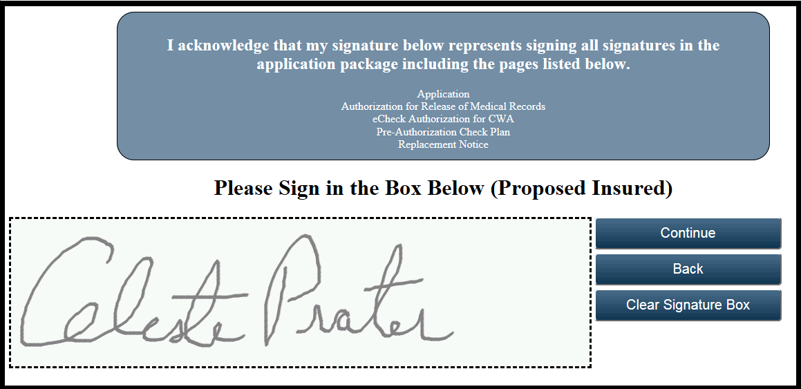 11 Add Signature(s) Client can now sign in the signature area of the screen using a stylus pen or simply with their finger 3.