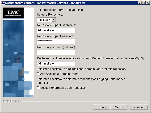 CONFIGURE CTS IN SECOND MACHINE Follow the same steps as in configuring CTS1 to