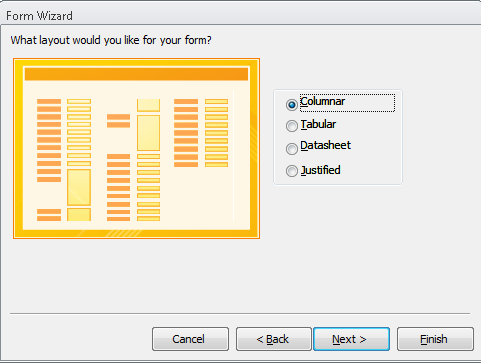 Fig 14: Choose variables for the form Click NEXT.