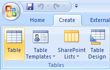 . The default view for a new table is Datasheet view. The first field (column) is automatically named ID, the data type is AutoNumber and it is the assigned Primary Key.