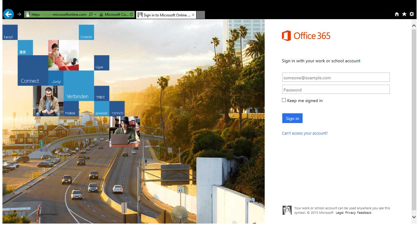 OFFICE 365 PROPLUS INSTALLATION GUIDE Step 1. Open Internet Explorer and go to http://login.microsoftonline.