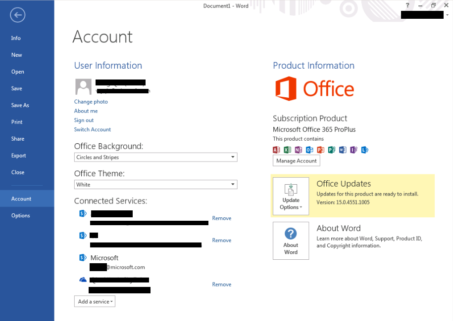 Step 5. A window may prompt up, asking for activation of Office 365. When it prompts, type in your RP email address.