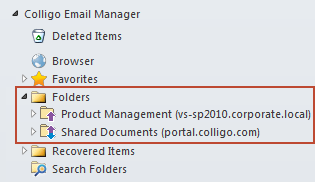 NOTE: you can also add a Folder by right-clicking on a folder under your Favorites list and selecting Add as Folder from the contextual menu: NOTE: as a best practice, it is recommended that you do