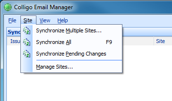 2. In the Synchronization section, choose your preferred options: Synchronize on startup: choose this option if you want your lists and libraries to synchronize every time Email Manager starts