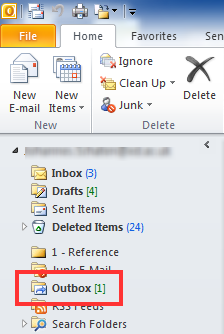 Using Outlook 2010 for Email 9 Creating Mail Rules: Method 2 Detailed (Optional Exercise) You can also set up a rule via File, Manage Rules & Alerts.