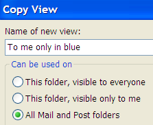 In this window you could also restrict the view to specific folders. Choose All Mail and Post folders (Staffmail: All IMAP folders.) 12.