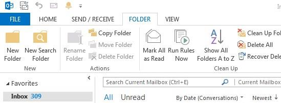 Enter the name for the folder in the Name box Click the arrow on the Folder