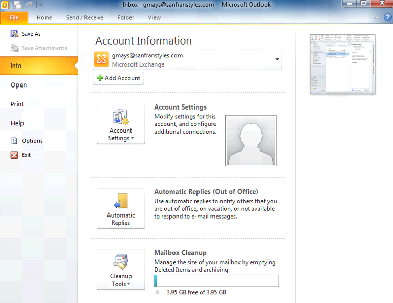 Setting up Outlook 2010 You'll need to set up Outlook before you can start using the application to manage your email, contacts, calendars, and tasks.