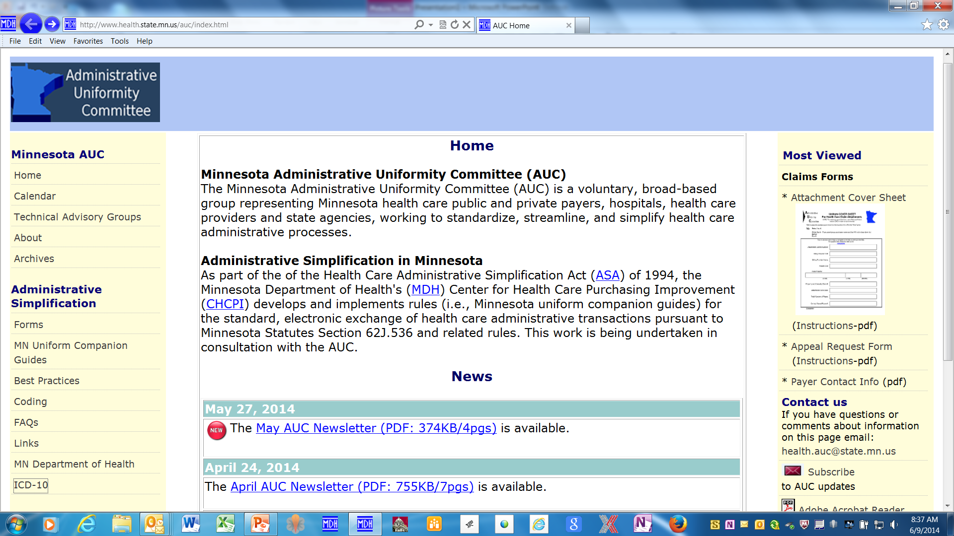 ICD-10 resources AUC homepage: http://www.