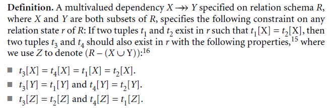 Multivalued Dependency and Fourth Normal Form