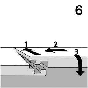(Fig.7). Fig.4 Fig.5 Fig.6 4) When you have reached the final row, you will need to measure the width of the final planks.
