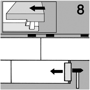 3) Continue to lay each remaining panel by folding the length of the panel first (Fig.4) then placing the end joint in position (Fig.5).