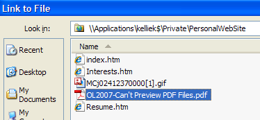 Link to a Document Copy the Document/PDF File to the Web Folder Refresh the list of files in the folder Menu: View, Refresh Note: Save Word documents as PDF files.