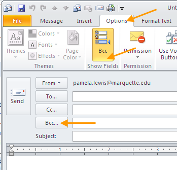 OUTLOOK 2010 TIPS TABLE OF CONTENTS 1.Send a Blind Carbon Copy... 1 2. Change the view of the Outlook window... 2 3. Use Out of Office Assistant... 2 4. Create Rules... 4 5. Use Autocomplete... 5 6.