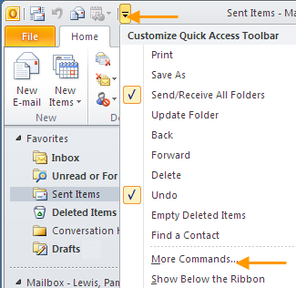 2. CHANGE THE VIEW OF THE OUTLOOK WINDOW Outlook displays a large amount of information in a small space. Organize this space by minimizing or turning off the Navigation Pane and the To-do bar.