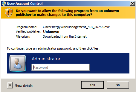 Depending on your user configuration, Windows may request permission to make