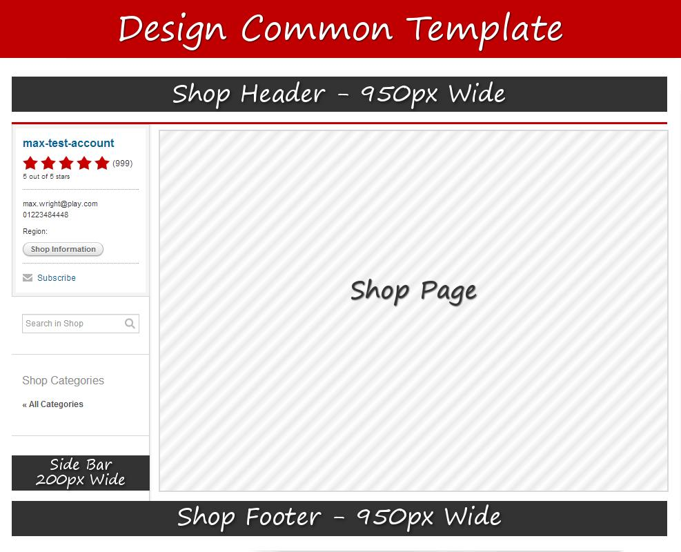 Below is a guide to the dimensions of the three editable sections that can be found on your Common Template.