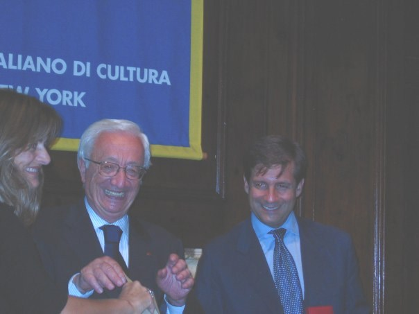 Renato Guarini, former President of Sapienza University of Roma, Lucio Ubertini, Director of H2CU Center, Salvatore Grimaldi and Renato Miracco, former Director of the Italian Cultural Institute