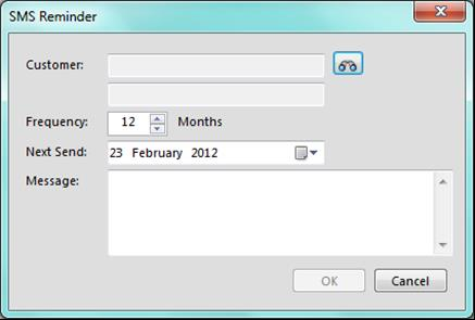 Reminders The reminders function allows you to send reminders to your customers at predefined times.