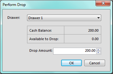 At any time the POS manager can see how much cash is in any drawer by going to the drawers window under the POS tab.