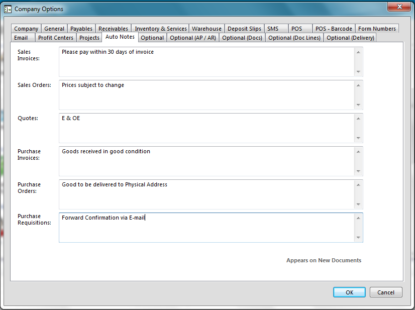 Projects Under the Projects tab, you can set parameters on how you would like to processes when dealing with projects.