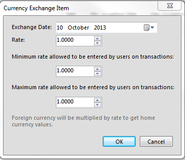 Furthermore, you can edit the exchange rates of that particular currency. You can set the minimum rate allowed as well as the maximum allowed when users enter on transactions.