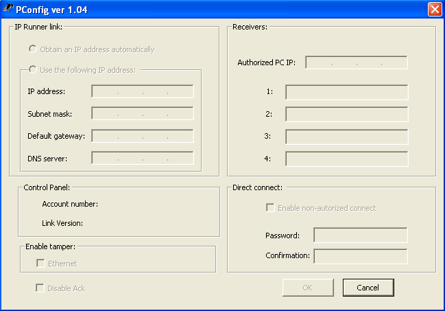 Configuring the Runner Link 9. On the PC keyboard, press the [Tab] key, or click the Subnet Mask field (underneath the IP address). A value of 255.255.255.0 is inserted automatically. 10.