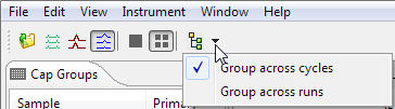 Group Statistics page 305 3. Select a grouping option by clicking the arrow next to the grouping view icon.