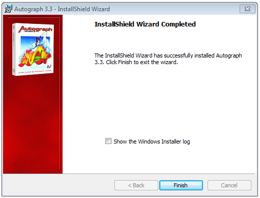 7. When the installation is complete click Finish on the dialog shown in Figure 8. Figure 8. The Installation Complete Dialog 8. Now continue to Deployment. 3.