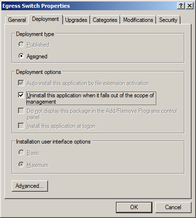 9) If you have been issued with or have created a specific transform file select the Modifications tab to add the transform file.