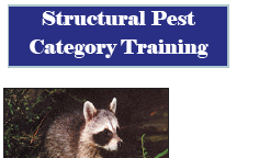 Pest Category Training Listed below are the locations and dates for the SPCS Pest Category training (commercial, non-commercial, and technician) The course begins at 8:00 a.m. and ends at 5:00 p.m. Deadline for registration is one week prior to training date.