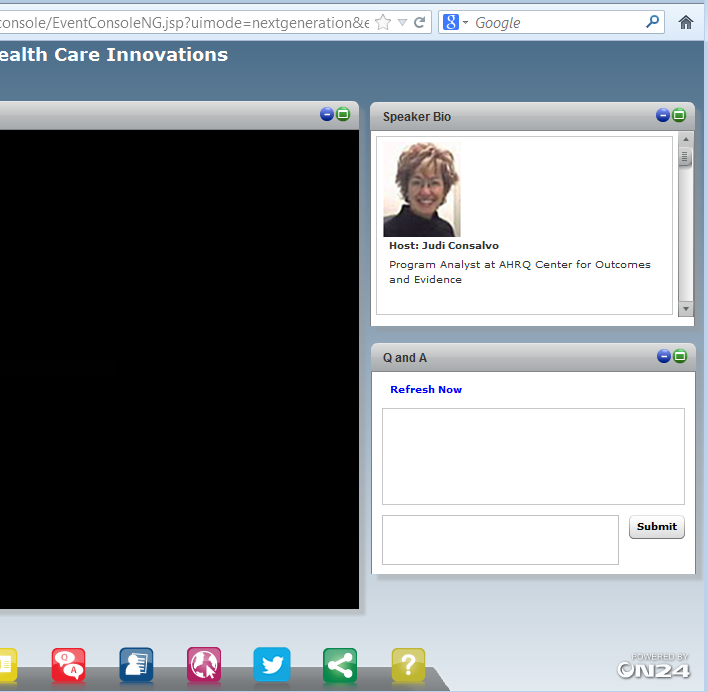 Using the Webcast Console and Submitting Questions To submit a question, type