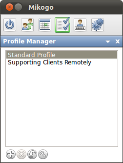 Profile Manager You can access the Profile Manager via the icon when there are no active sessions running at the time.