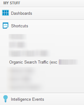 You ll be able to quickly go back to this using the Shortcuts menu: You can create Shortcuts for any customised reports you make in Google Analytics as long as you can see the Shortcut button in that
