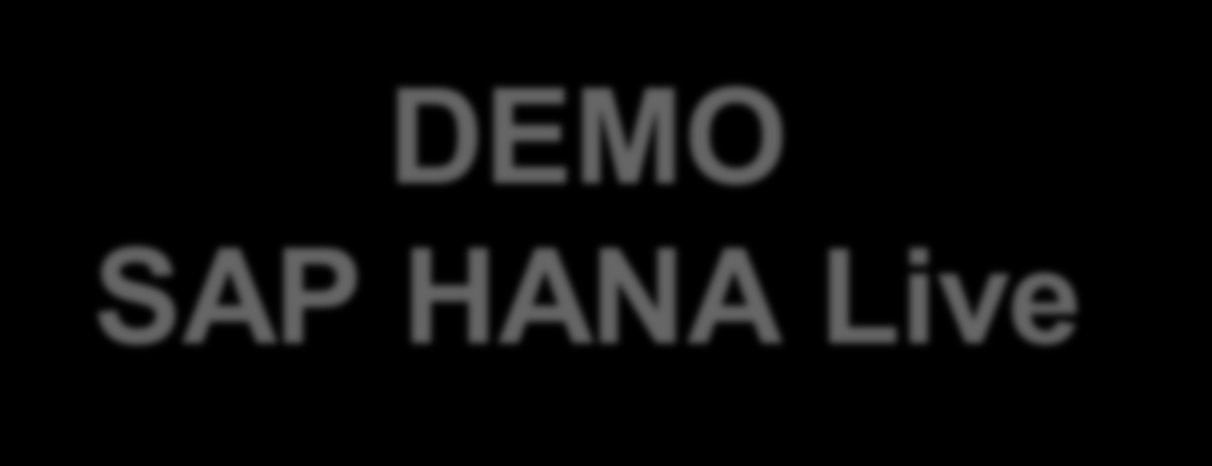 More Demos on the Showfloor DEMO SAP HANA Live 2014 SAP SE