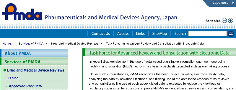 Task force for advanced review/consultation PMDA started a discussion in the view of mandating electronic submissions in the future, and internally