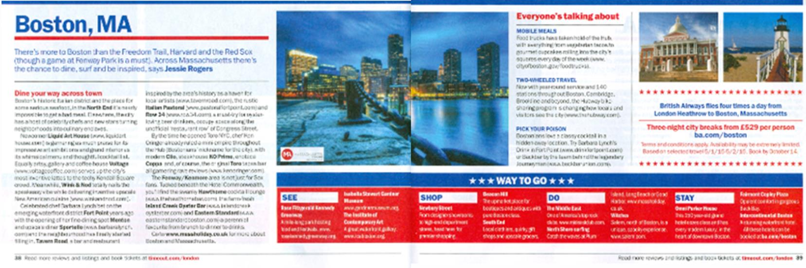 Print and online campaign with BA & Brand USA For the period that the co-op marketing campaign ran Massachusetts saw year on year results as follows:
