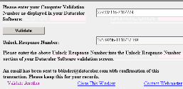 NOTE You can copy the Computer Validation number from the Datacolor Security Client screen, using the standard Windows Copy command. You can paste it here, using the Paste command. 10.