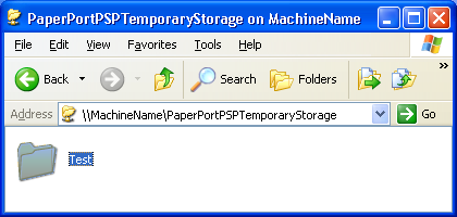 15. Click OK. You have finished setting up SMB access to the folder PaperPortPSPTemporaryStorage. Checking SMB access 1.