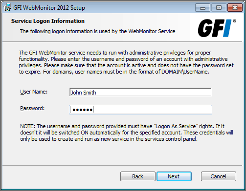 NOTE Enter only users who need access to configure GFI WebMonitor. Do not enter IPs of normal users who will be proxied through GFI WebMonitor.