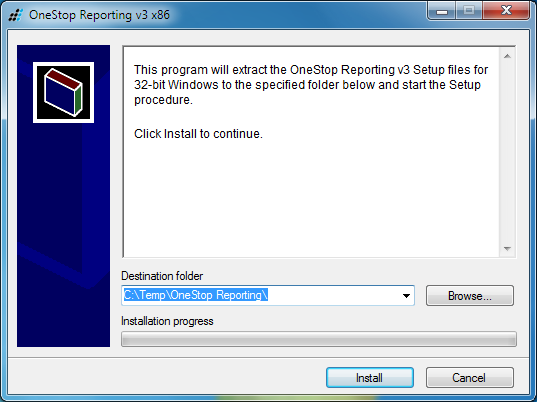 OneStop Reporting Installation Read This if You Have OneStop Reporting 2.x Prior to version 3.