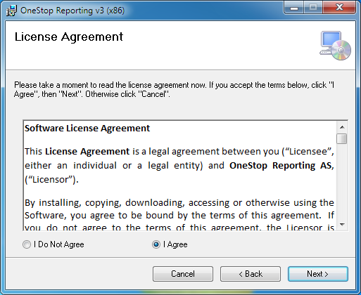 4. In the Welcome window, click Next. 5. Read the License Agreement, select I Agree and click Next. 6.