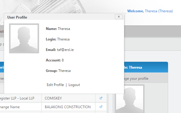 You can also access edit profile, or log out, from any page, by hovering your mouse over the Welcome [Username] at the top right of the screen. To the right of the home page there are widgets.