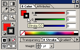 9. Set the color mode to RGB color, by clicking on the black arrow in the top right corner of the Color Palette and selecting RGB: 10.