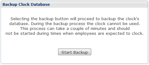 THE SETUP MENU NOTE : Only employees who are listed as administrators will have access to this menu. BACKUP Backups are essential for any electronic data system.