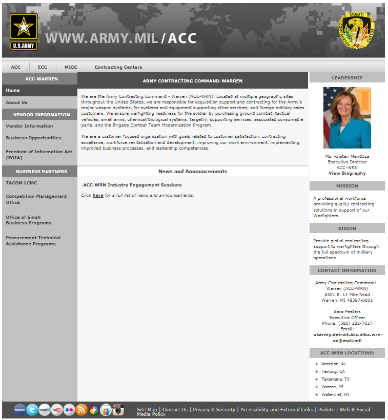 ACC-WRN Public Website Contact Information