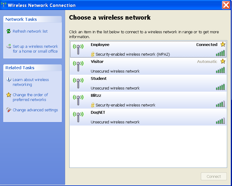 Accessing the SUNYIT wireless network for the first time Right click on your wireless network connection icon and select the View Available Wireless Networks option You may see several networks