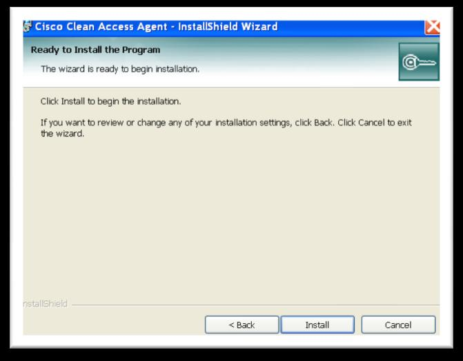 6. Click the Install button The