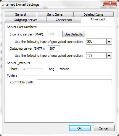 These are the advanced server settings you will need to configure.